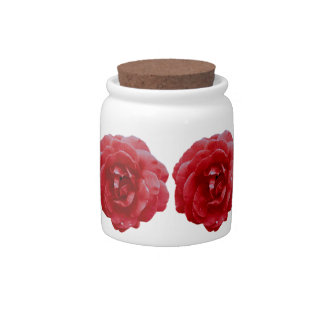 Sugar Bowl/Candy Jar - Red Red Rose Candy Jars