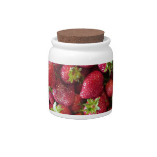 Sugar Bowl/Candy Jar - Summer Strawberries Candy Jar