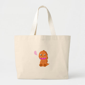 Sugar brown Dragon. Kids dragon Large Tote Bag