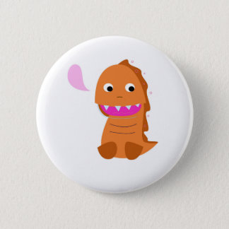 Sugar brown Dragon. Kids dragon Pinback Button