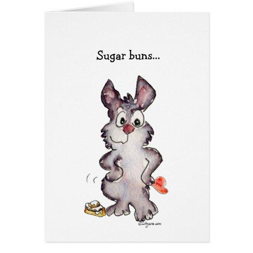 Sugar Buns Cartoon Love Valentine Card