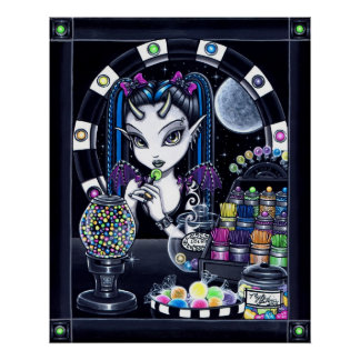 """""""Sugar"""" Candy Store Fairy Poster"""