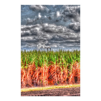 SUGAR CANE AND MILL STACKS QUEENSLAND AUSTRALIA STATIONERY