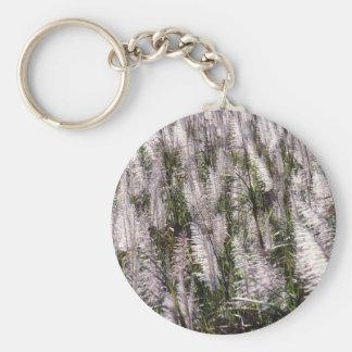 Sugar cane basic round button keychain