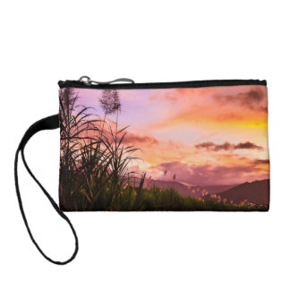 Sugar Cane Blossom at Sunset Coin Wallets