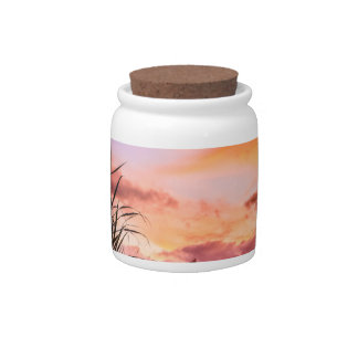 Sugar Cane Blossom at Sunset Candy Dishes