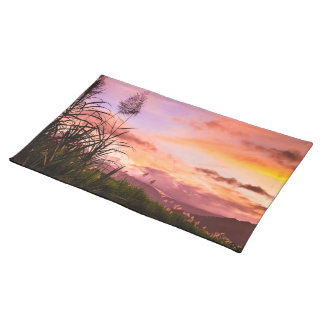 Sugar Cane Blossom at Sunset Cloth Placemat