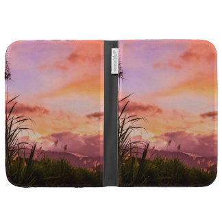 Sugar Cane Blossom at Sunset Kindle 3 Covers