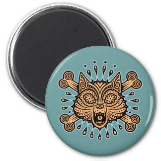 Sugar Cat Pirate 2 Inch Round Magnet