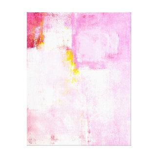 'Sugar Coded' Pink Abstract Art Canvas Print