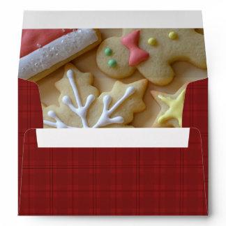 Sugar Cookie Christmas Red Plaid A7 Envelope