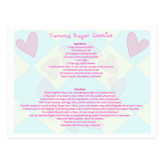 Sugar Cookie Recipe Postcard