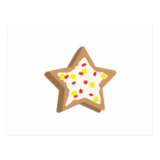 SUGAR COOKIE STAR POSTCARD