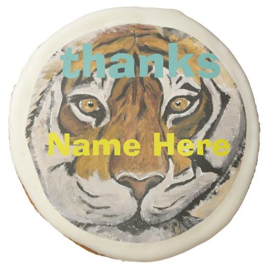 Sugar Cookie Tai Chi Tiger Personalized