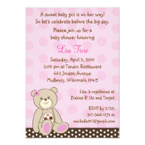 Sugar Cookie Teddy Bear Baby Shower Invitations
