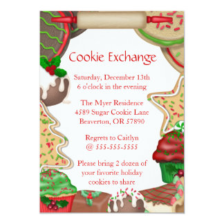 Sugar Cookies & Fudge Cookie Exchange Invite