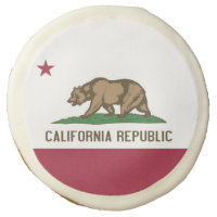 Sugar cookies with flag of California, USA