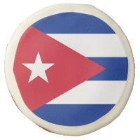 Sugar cookies with flag of Cuba
