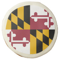 Sugar cookies with flag of Maryland, USA