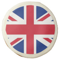 Sugar cookies with flag of United Kingdom