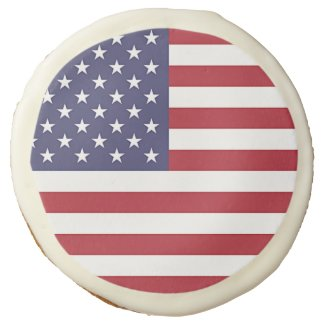Sugar cookies with flag of USA