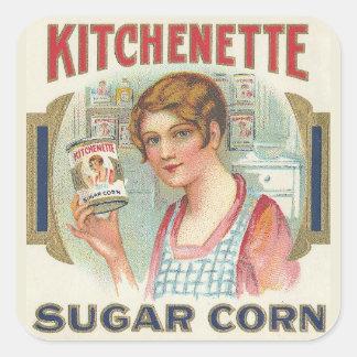 Sugar Corn Square Sticker