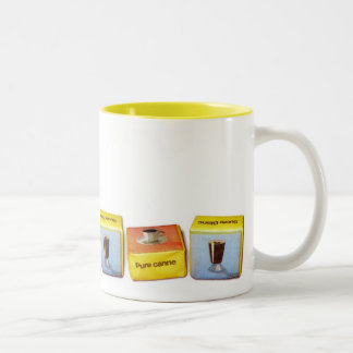Sugar Cube Mug! Two-Tone Coffee Mug