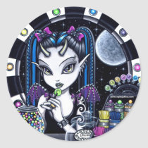 sugar, cute, horned, sugar shop, faery stickers, myka, jelina, fairies, faerie, fairy, punk, tattooed, art, Sticker with custom graphic design