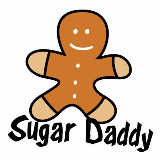 Sugar Daddy Gingerbread Man Acrylic Cut Out | Zazzle