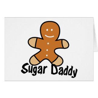 Sugar Daddy Gingerbread Man Greeting Cards