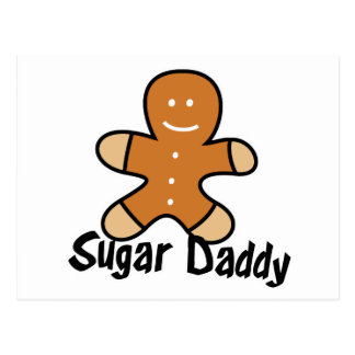 Sugar Daddy Gingerbread Man Postcard