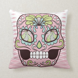 Sugar Face Throw Pillow