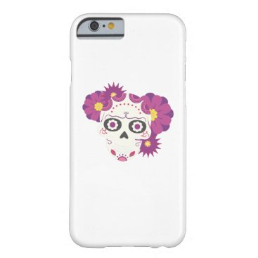 Halloween Themed Sugar Flower Skulls  Happy Halloween Funny Barely There iPhone 6 Case