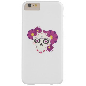 Halloween Themed Sugar Flower Skulls  Happy Halloween Funny Barely There iPhone 6 Plus Case