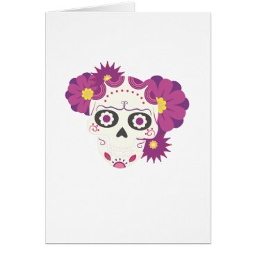 Halloween Themed Sugar Flower Skulls  Happy Halloween Funny Card