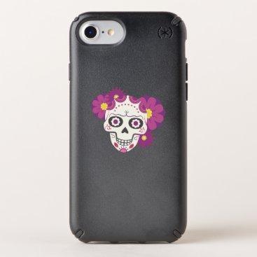 Halloween Themed Sugar Flower Skulls  Happy Halloween Funny Speck iPhone Case
