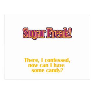 Sugar Freak! – There, I confessed Postcard