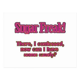 Sugar Freak – There, I confessed Postcard