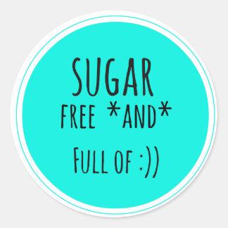 sugar free and smile sticker