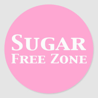 Sugar Free Zone Gifts Classic Round Sticker