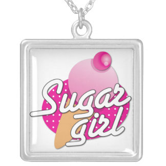 Sugar girl Ice cream Rockabilly necklace