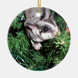 sugar glider Christmas Double-Sided Ceramic Round Christmas Ornament