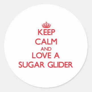 Sugar Glider Classic Round Sticker