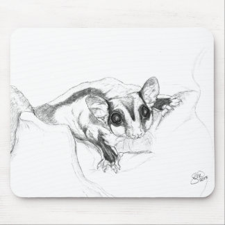 Sugar Glider Drawing, Sketch Mouse Pad