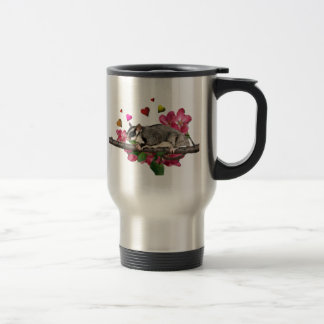 Sugar Glider Flowers and Hearts 15 Oz Stainless Steel Travel Mug