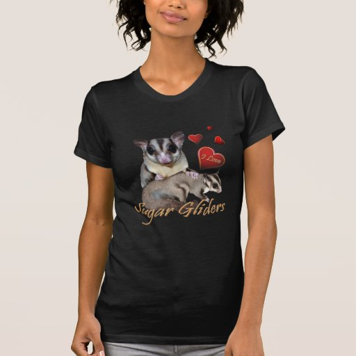 Sugar Glider Flowers and Hearts T-shirt