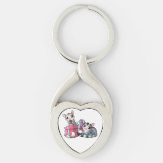 sugar glider heart keychain