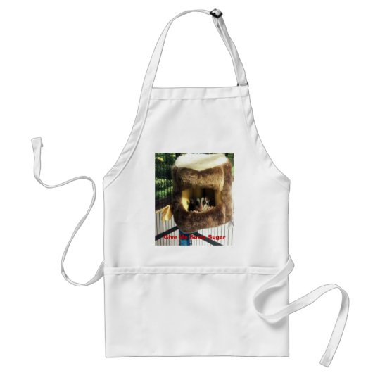 Sugar Glider in Furry Tree Truck Hanging Bed Adult Apron