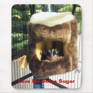 Sugar Glider in Furry Tree Truck Hanging Bed Mouse Pad