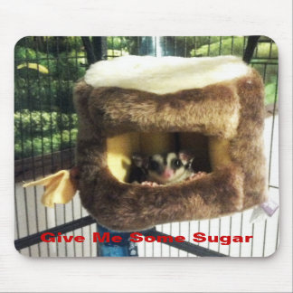Sugar Glider in Furry Tree Truck Hanging Bed Mousepads